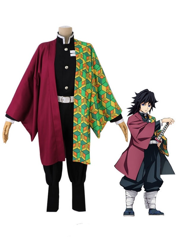 Demon Slayer Cosplay Costume Tomioka Giyuu Cosplay Costume