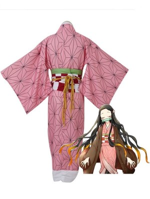 Ufotable Kamado Nezuko Cosplay Costume Anime Cosplay Costume