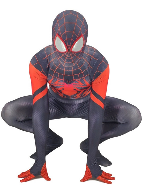 Into the Spider Verse Miles Morales Spider Man Cosplay Costume Marvel Costume
