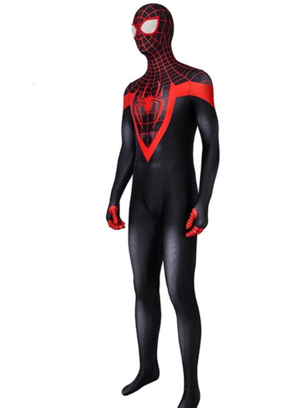 Into the Spider-Verse Miles Morales Spider Man Costume Marvel Cosplay Costume