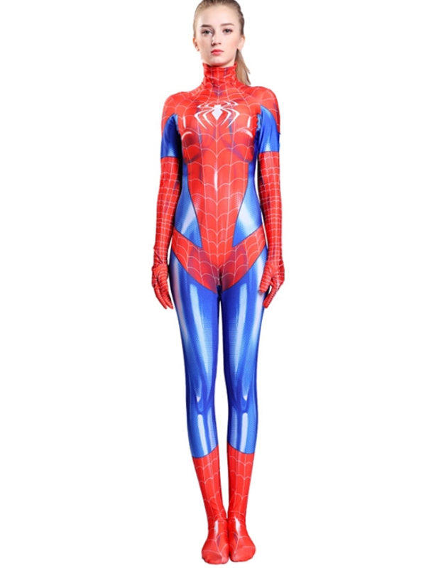 Women's Spiderman Cosplay Costume Marvel Jumpsuit For Adult And Kid
