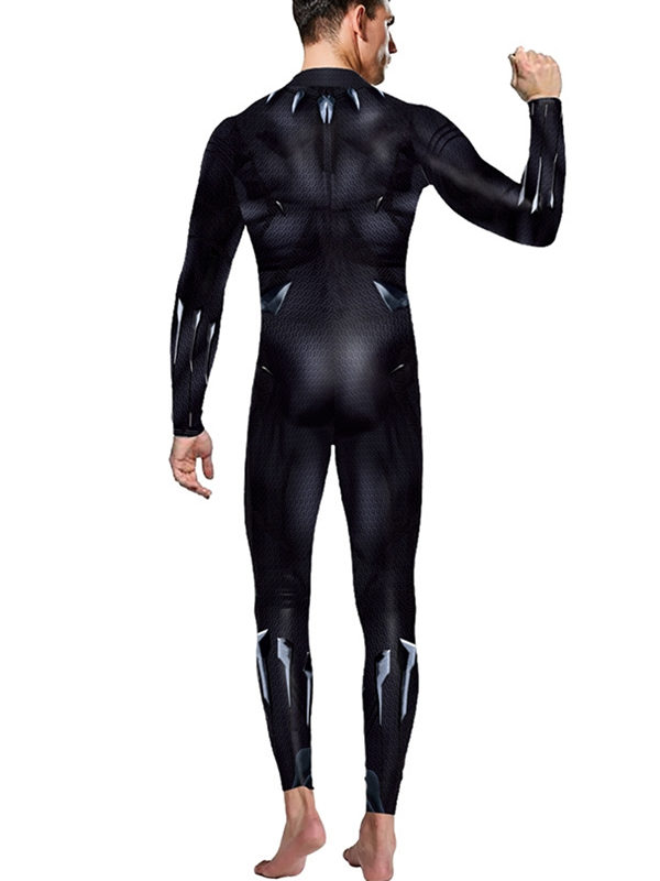Men's Black Panther Jumpsuit Marvel Cosplay Costume