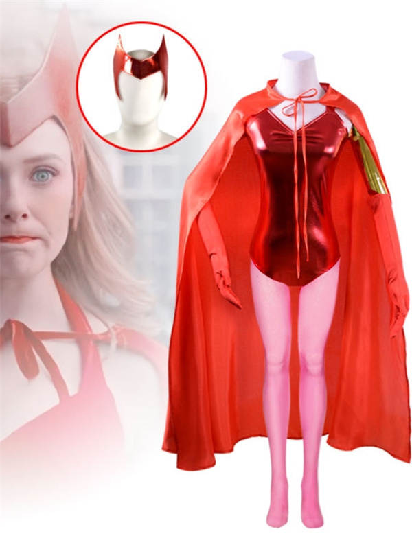 Wanda Vision Scarlet Witch Cosplay Costume Halloween Costume