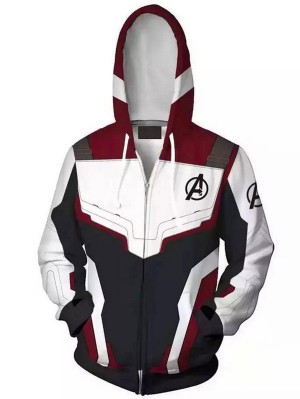 Marvel Avengers Endgame Quantum Zipper Hoodie