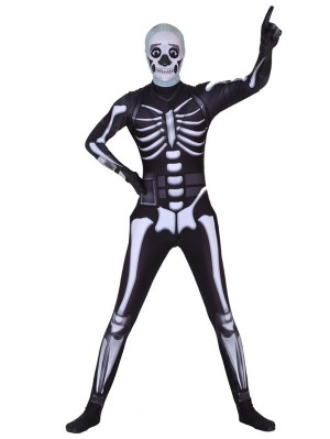 Fortnite Skull Trooper Cosplay Costume Jumpsuit Epic Game Cosplay Costume