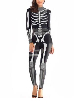 Fortnite Skull Trooper Print Jumpsuit Epic Game Cosplay Costume