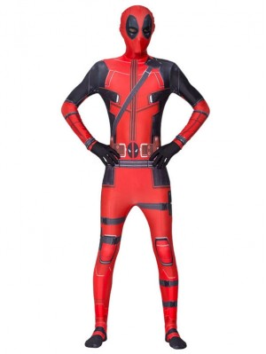Marvel Deadpool Cosplay Costume Deadpool Bodysuit
