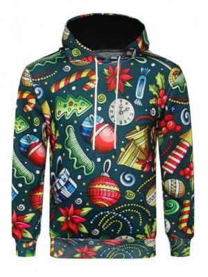 3D Christmas Gift Print Pullover Christmas Hoodie
