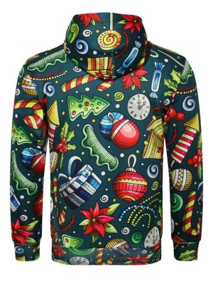 3D Christmas Gift Print Pullover Christmas Hoodie