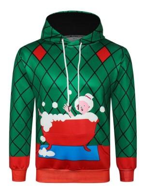Christmas Bubble Bath 3D Print Pullover Christmas Hoodie
