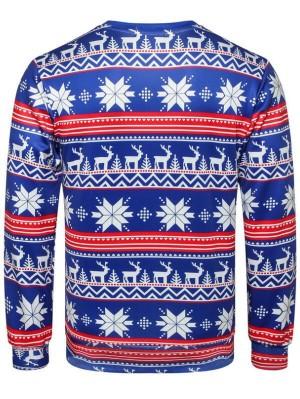 Christmas Snowflake Print Pullover Christmas Sweatshirt
