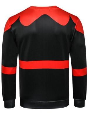Fashion Christmas Theme Print Long Sleeve Pullover Christmas Sweatshirt