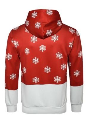 Christmas Elk 3D Print Pullover Christmas Hoodie