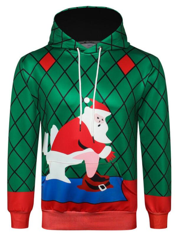 Christmas Santa 3D Print Pullover Christmas Hoodie