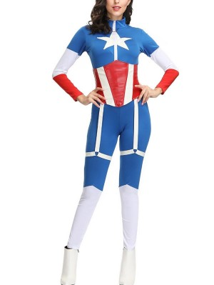 Women's Captain America Cosplay Costume Marvel Cosplay Costume