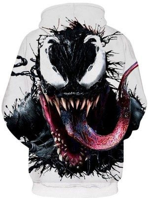 Casual Pullover 3D Venom Print Halloween Hoodie