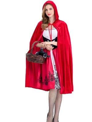 Adult Red Riding Hood Cosplay Costume Women's Halloween Party Dress