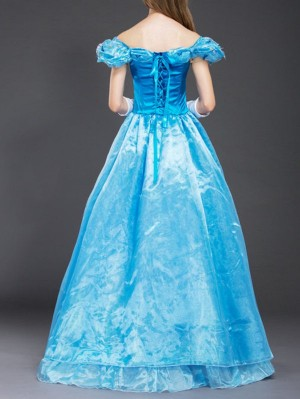 Halloween Cinderella Cosplay Costume Fairy Tale Princess Dress