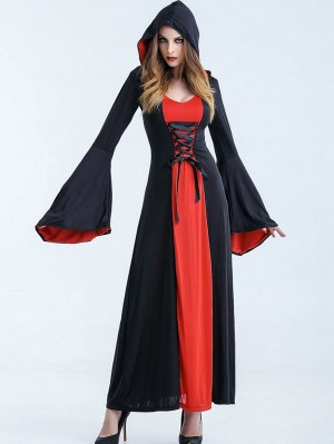 Halloween Vampire Cosplay Costume Gothic Robe Dress