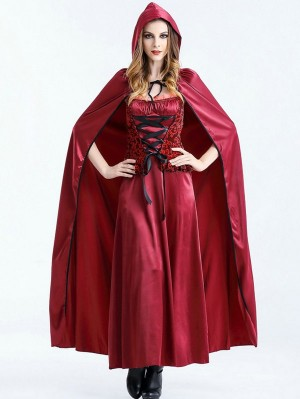 Halloween Riding Hood Costume Masquerade Cosplay Dress