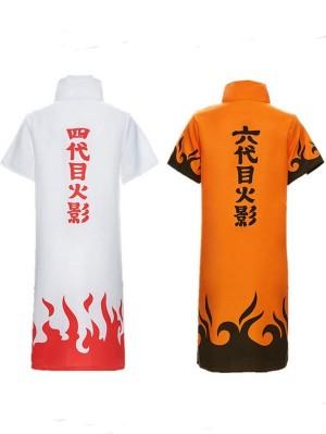 Japanese Anime Naruto Cosplay Costume Namikaze Minato Hatake Kakashi Cloak