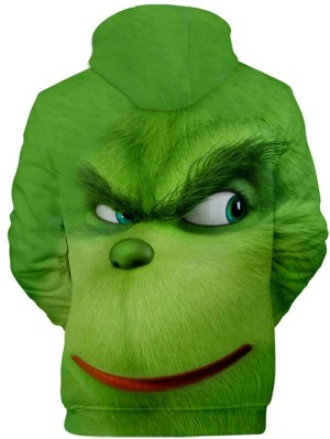 The Grinch 3D Print Pullover Hoodie