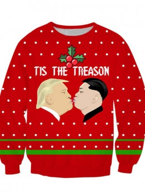 Christmas Element 3D Print Pullover Christmas Sweatshirt