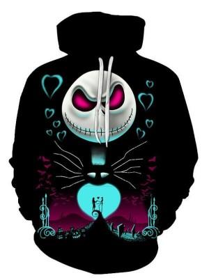 Halloween Element Skull 3D Print Pullover Halloween Hoodie