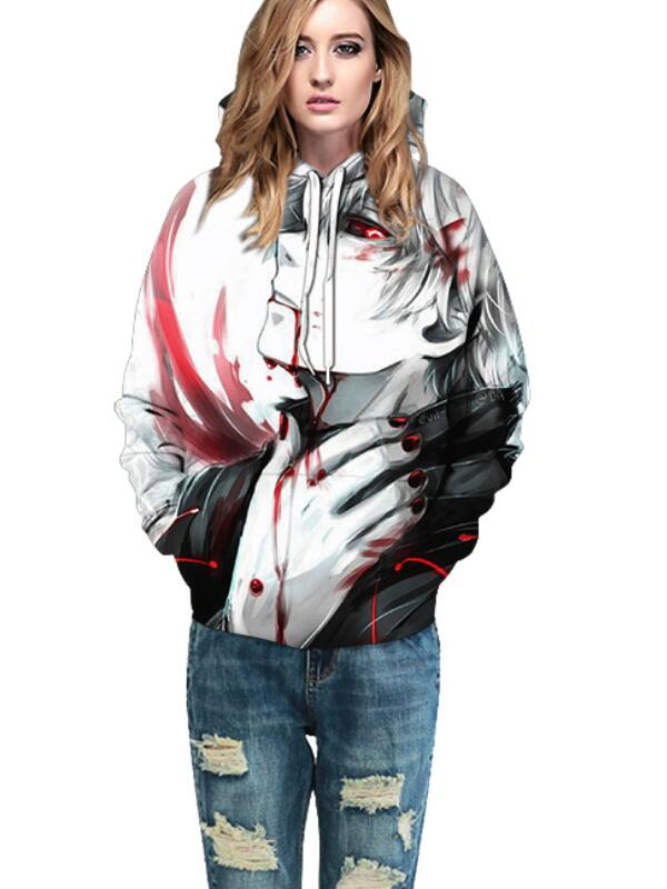 Casual Pullover 3D Comics Print Halloween Hoodie