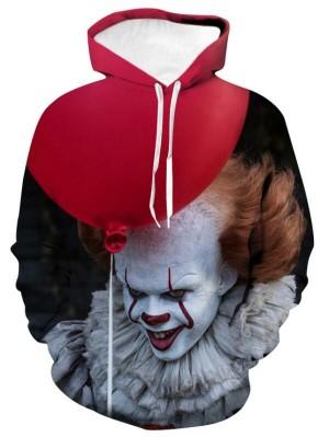 Casual Pullover 3D Print Demon's Jester Halloween Hoodie