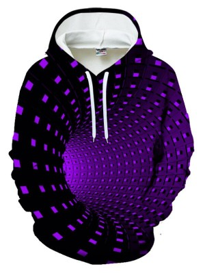 Casual Pullover 3D The Time Tunnel Print Halloween Hoodie