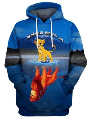 Casual Pullover 3D The Lion King Print Halloween Hoodie