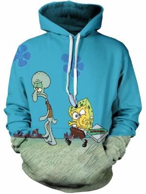 Casual Pullover 3D SpongeBob SquarePants Print Halloween Hoodie