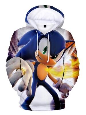Casual Pullover 3D Sonicthe Hedgehog Print Halloween Hoodie