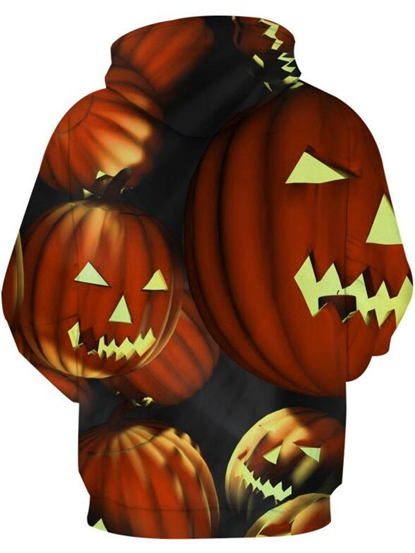 Casual Pullover 3D  Halloween Pumpkin Print Halloween Hoodie