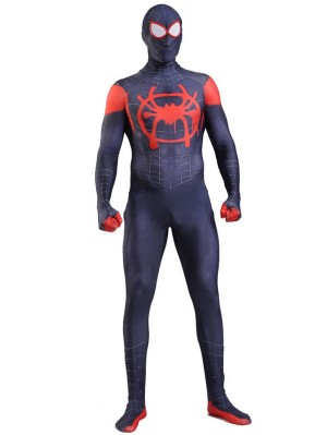 Spider Man Into the Spider-Verse Miles Morales Cosplay Costume Marvel Cosplay Costume