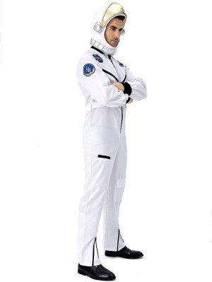 Astronaut Cosplay Costume White Space Pilot Costume With Hat