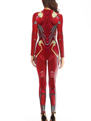 Marvel Avengers Iron Man Cosplay Costume Nano Costume Jumpsuit