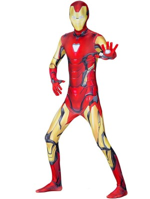 Avengers 4 Iron Man Cosplay Costume Marvel Costume Jumpsuit