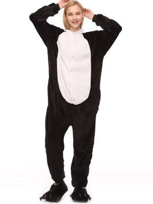 Cute Flannel Loungewear Panda Onesie Pajamas For Adults