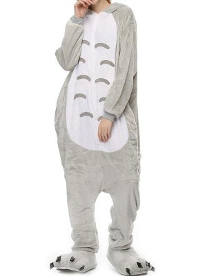 Cute Flannel Loungewear Totoro Onesie Pajamas For Adults