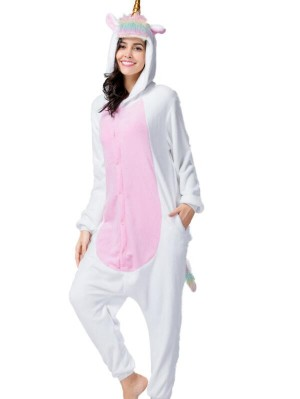 Cute Flannel Loungewear Unicorn Onesie Pajamas For Adults