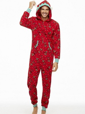 Fashion Hooded Christmas Family Matching Jumpers Print Loungewear