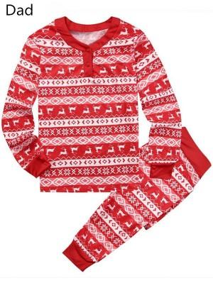 Christmas Family Matching Pajamas Set Print Christmas Loungewear