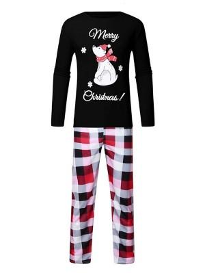 Christmas Matching Pajamas For Family Plaid Christmas Pajamas Set
