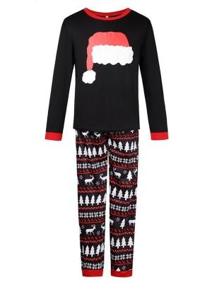 Christmas Matching Pajamas For Family Christmas Hat Print Pajamas Set