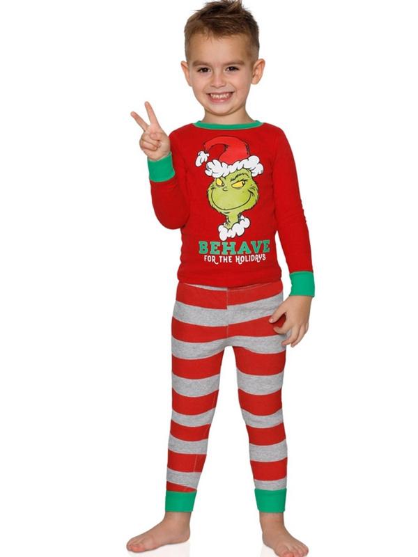 Christmas Matching Pajamas For Family Christmas The Grinch Print Pajamas Set