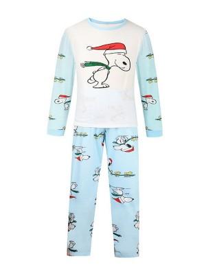 Christmas Matching Pajamas Family Christmas Snoopy Print Pajamas Set
