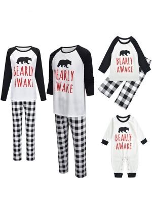 Christmas Matching Pajamas For Family Christmas Bear Print Pajamas Set