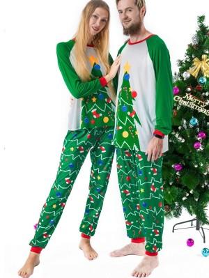 Christmas Matching Pajamas Family Christmas Tree Print Pajamas Set